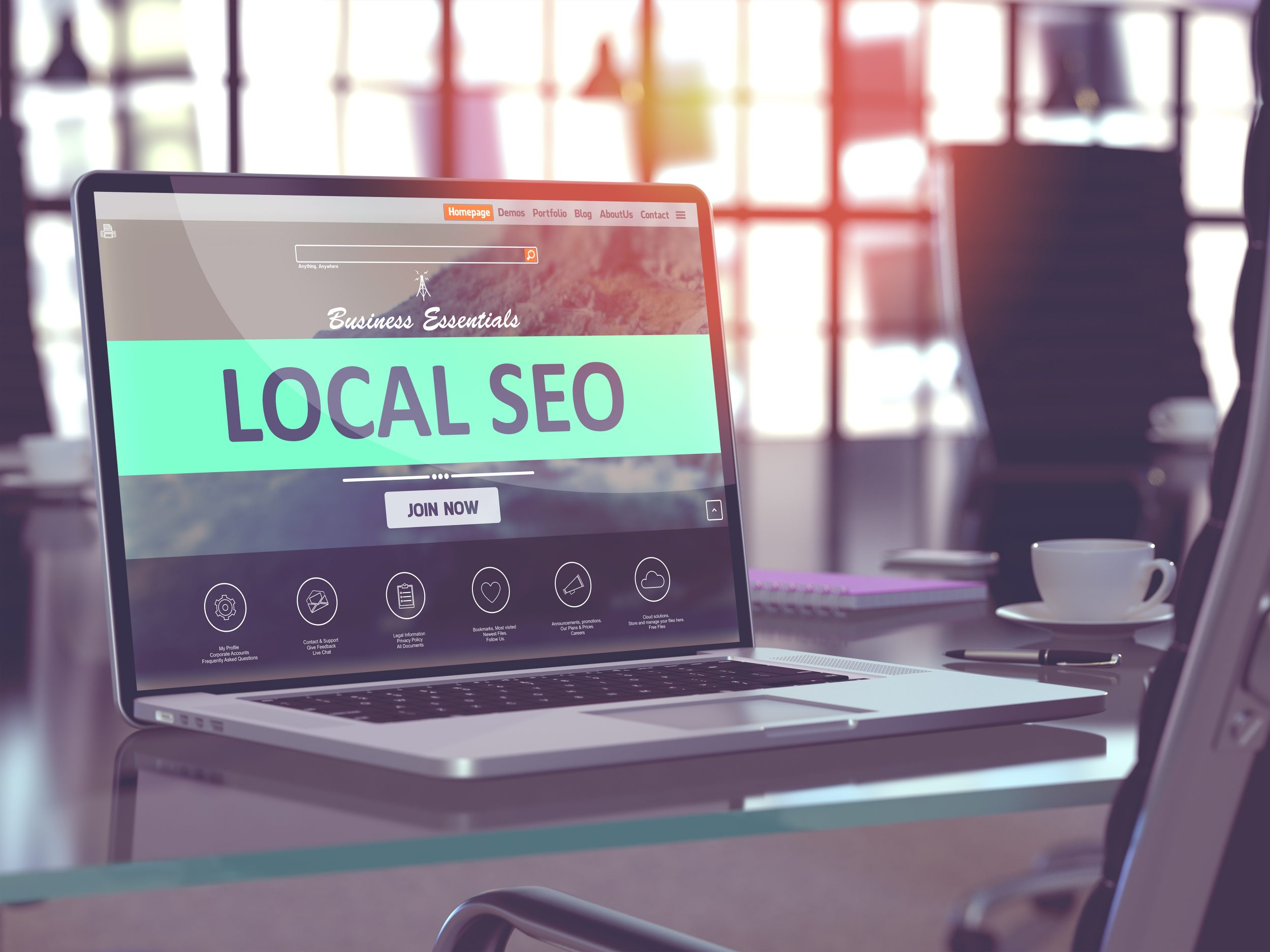 local SEO on computer for increasing local marketing