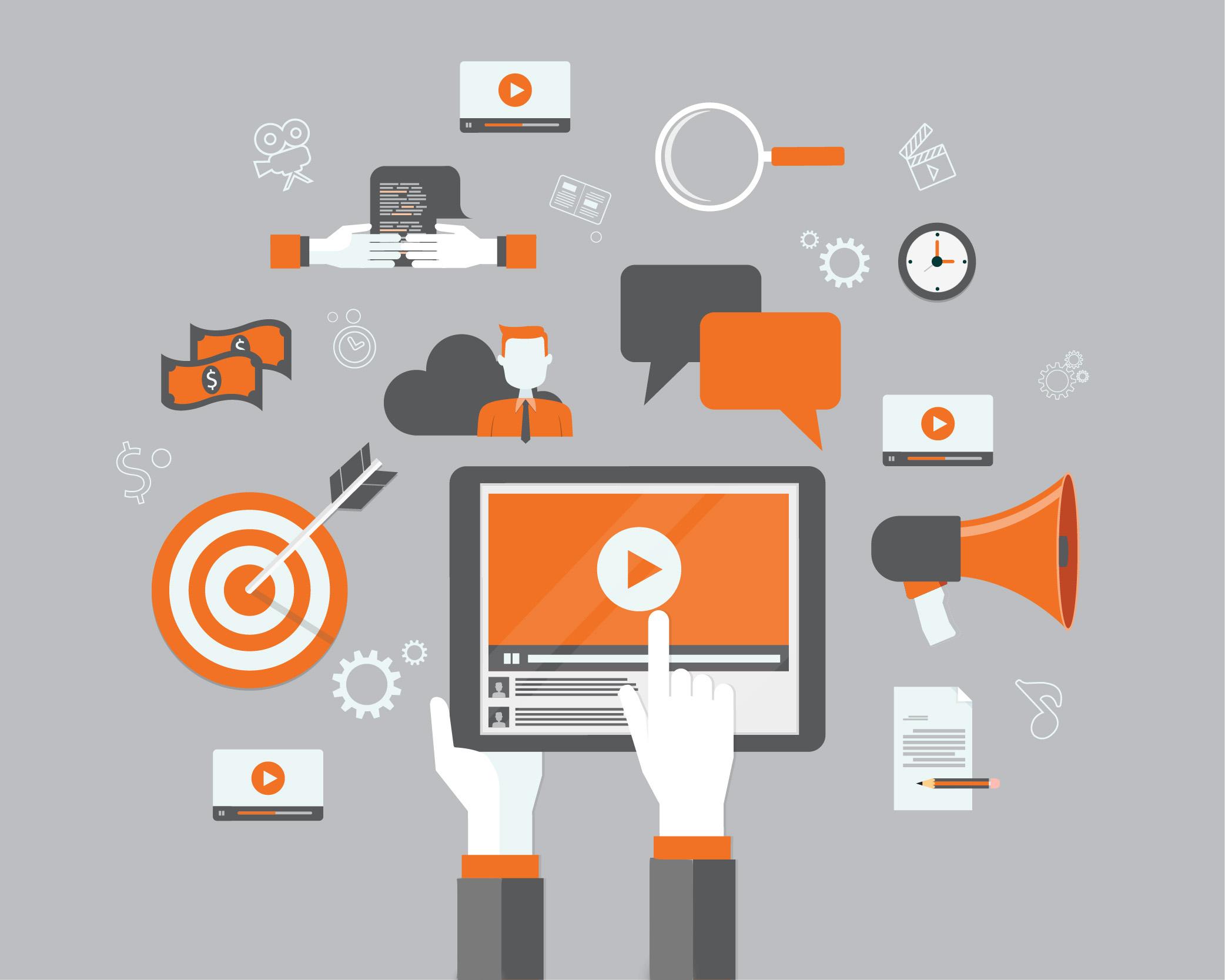 Content Marketing strategies Diagram