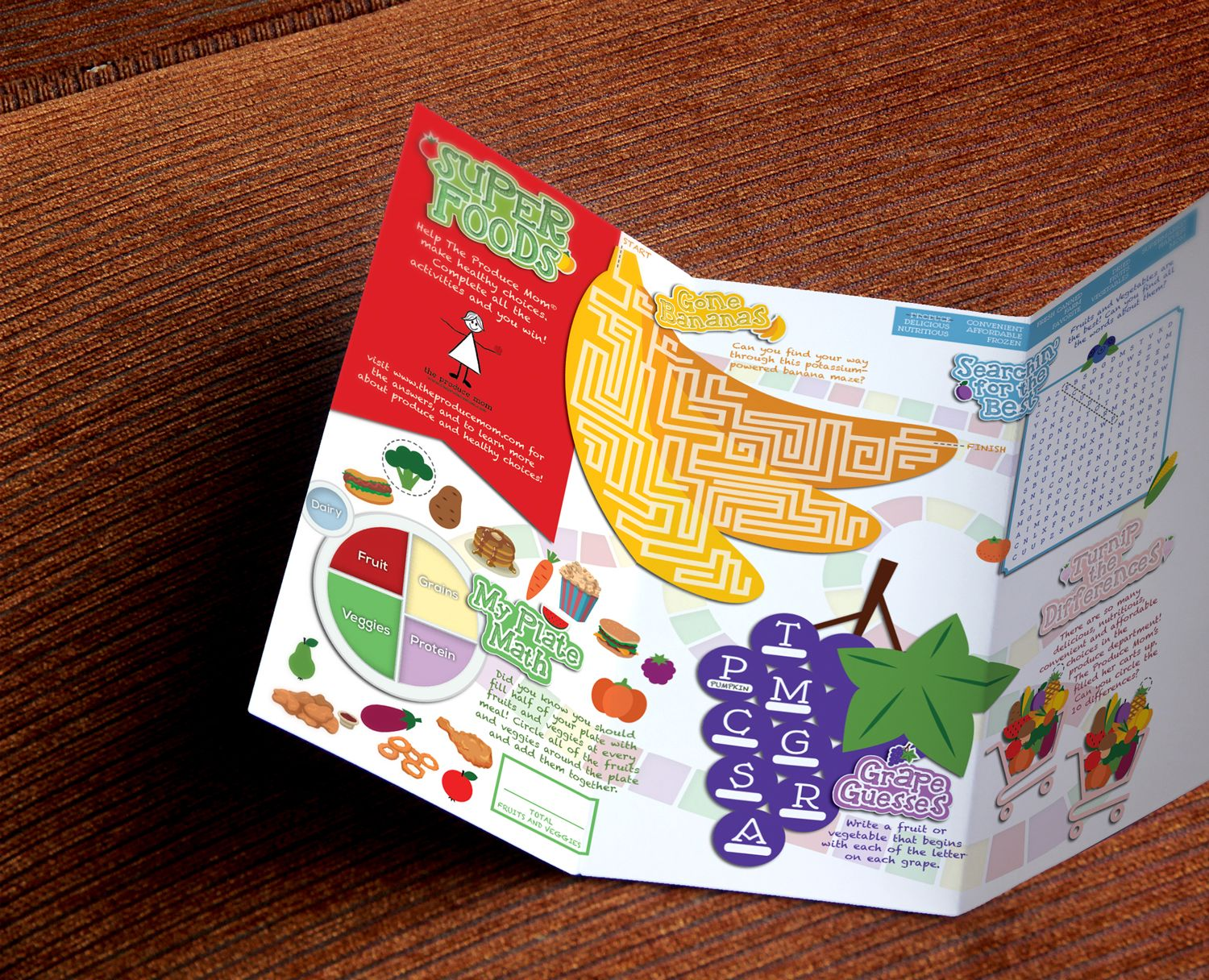Creative development example of a children's menu