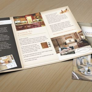 distinctive kitchen and bath in showroom print brochures